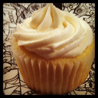 Champagne cupcake orange oil buttercream