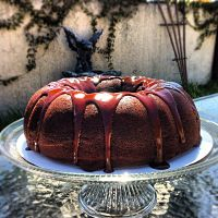 Chocolate Guinness cake with chocolate glaze