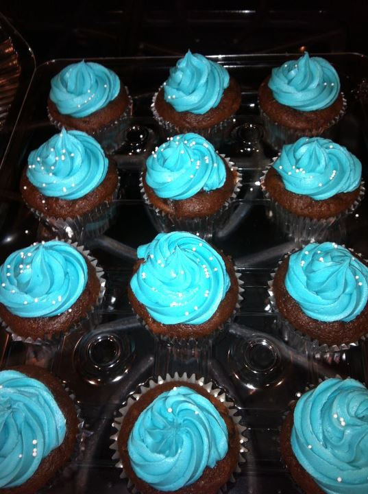 Chocolate Cupcake blue raspberry buttercream