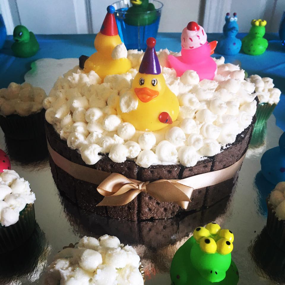 Rubber Duckies - Banana cake with caramel buttercream